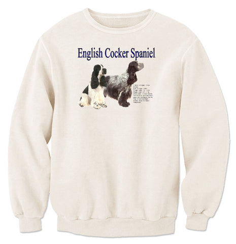 Natural English Cocker Spaniel Sweatshirt