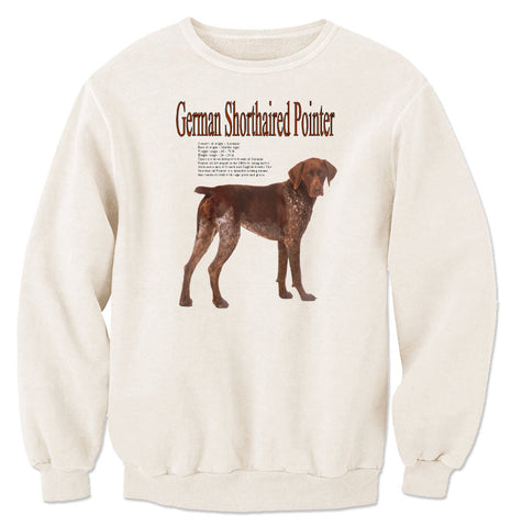 Natural German Shorthaired Pointer Sweatshirt
