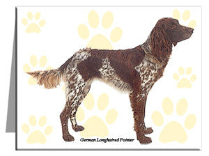 German Longhaired Pointer Note Cards