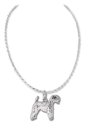 Giant Schnauzer Sterling Silver Necklace
