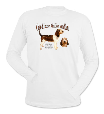 White Grand Basset Griffon Vendeen Long Sleeve T-Shirt