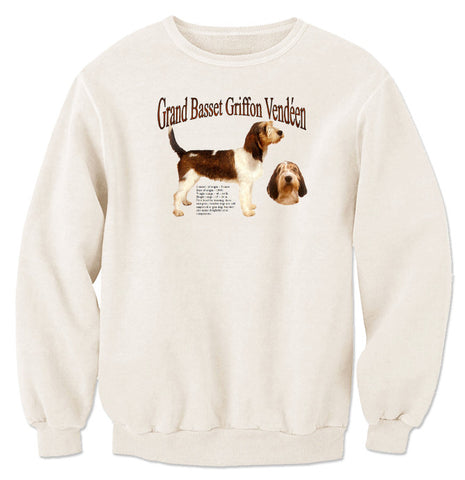 Natural Grand Basset Griffon Vendeen Sweatshirt