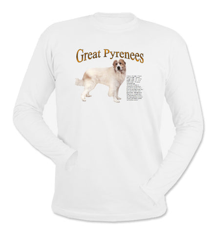 White Great Pyrenees Long Sleeve T-Shirt