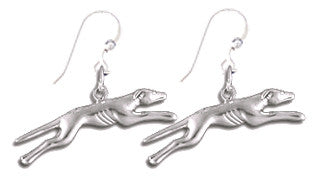 Greyhound Sterling Silver Earrings