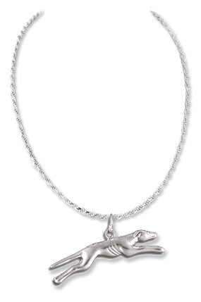 Greyhound Sterling Silver Necklace