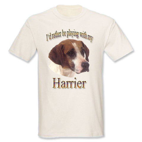 Natural I'd Rather Be Playing With My Harrier T-Shirt