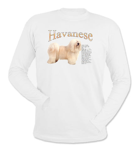 White Havanese Long Sleeve T-Shirt