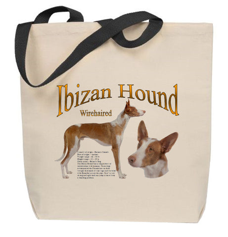 (Wirehaired) Ibizan Hound Tote Bag