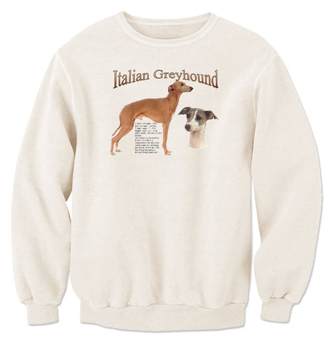 Natural Italian Greyhound Sweatshirt
