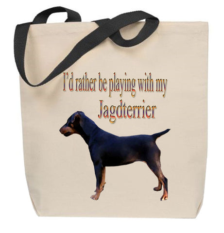 I'd Rather Be Playing With My Jagdterrier Tote Bag