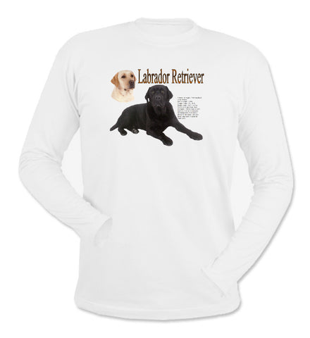 White Labrador Retriever Long Sleeve T-Shirt