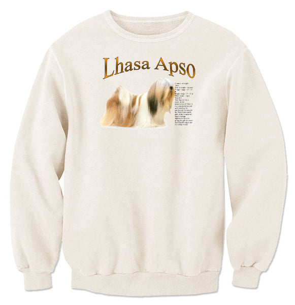 Natural Lhasa Apso Sweatshirt