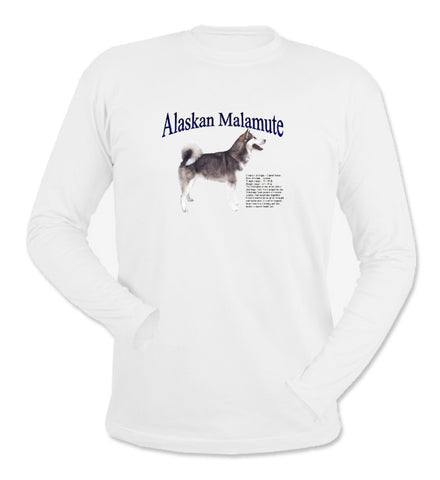 White Alaskan Malamute Long Sleeve T-Shirt