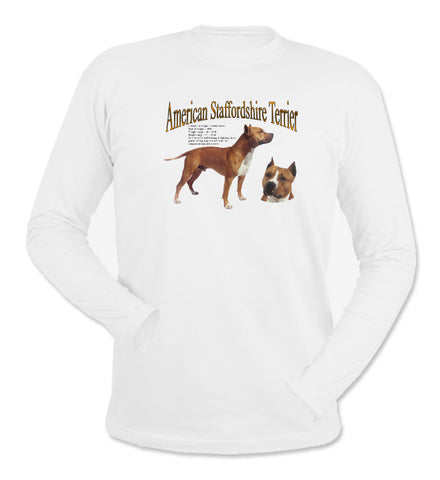 White American Staffordshire Terrier Long Sleeve T-Shirt