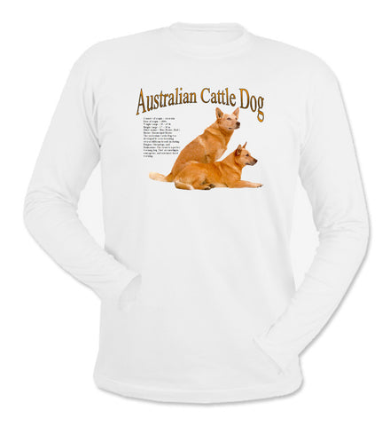 White Australian Cattle Dog Long Sleeve T-Shirt