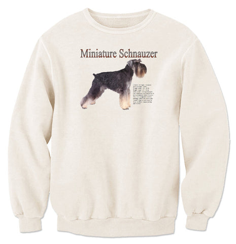 Natural Miniature Schnauzer Sweatshirt