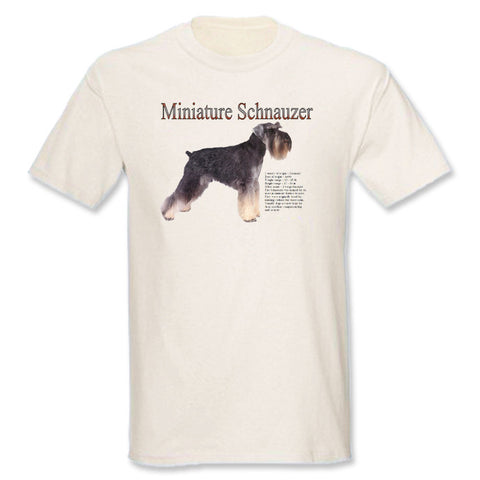 Natural Miniature Schnauzer T-Shirt