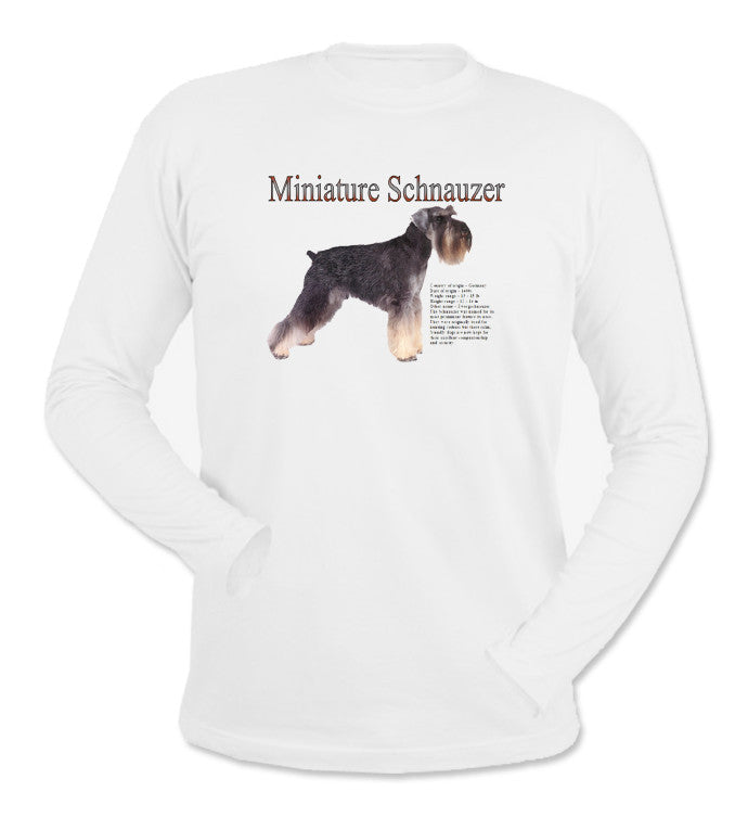 White Miniature Schnauzer Long Sleeve T-Shirt