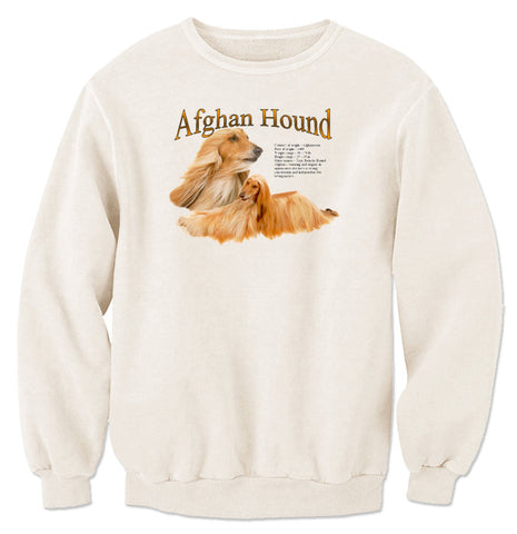 Natural Afghan Hound Sweatshirt