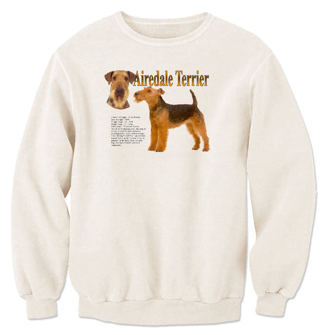 Natural Airedale Terrier Sweatshirt