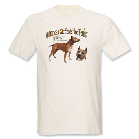 Natural I'd Rather Be Playing With My American Staffordshire Terrier T-Shirt