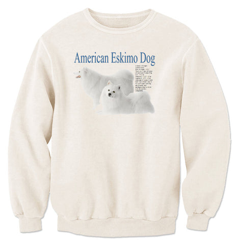 Natural American Eskimo Dog Sweatshirt