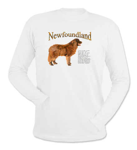 White Newfoundland Long Sleeve T-Shirt