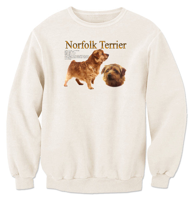 Natural Norfolk Terrier Sweatshirt