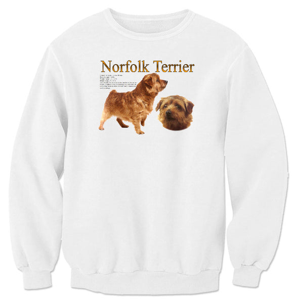 White Norfolk Terrier Sweatshirt