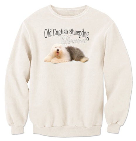 Natural Old English Sheepdog Sweatshirt