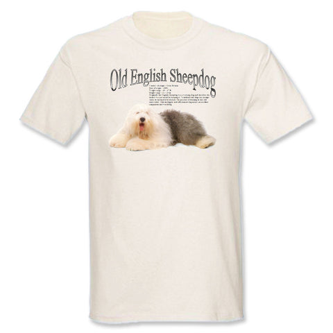Natural Old English Sheepdog T-Shirt