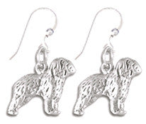 Old English Sheepdog Sterling Silver Earrings