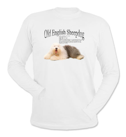 White Old English Sheepdog Long Sleeve T-Shirt