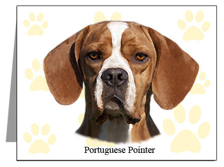 Portuguese Pointer Note Cards