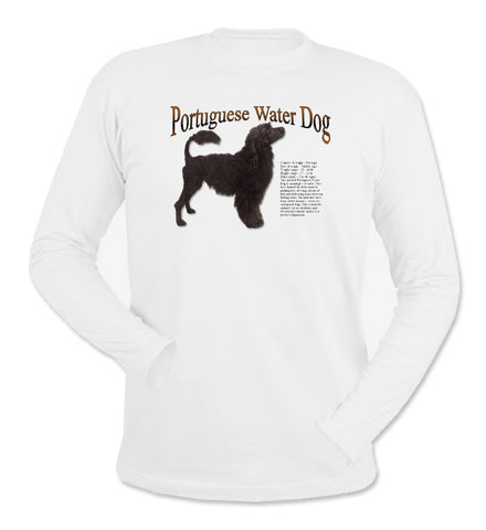 White Portuguese Water Dog Long Sleeve T-Shirt