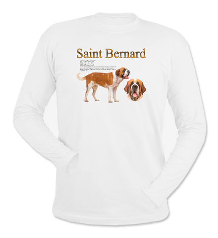 White Saint Bernard Long Sleeve T-Shirt