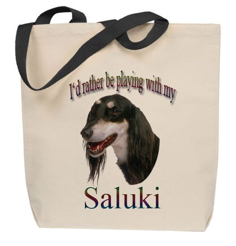 I'd Rather Be Playing With My Saluki Tote Bag