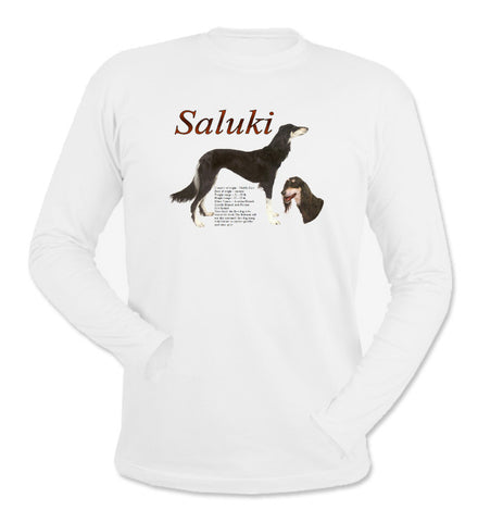White Saluki Long Sleeve T-Shirt