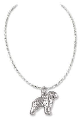 Sheepdog Sterling Silver Necklace