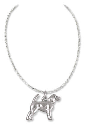Spaniel Sterling Silver Necklace