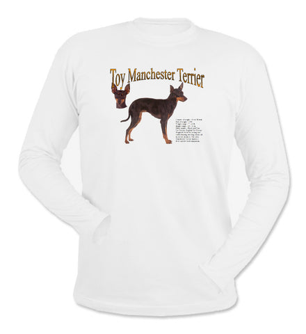 White Toy Manchester Terrier Long Sleeve T-Shirt