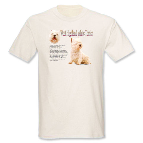 Natural West Highland White Terrier T-Shirt