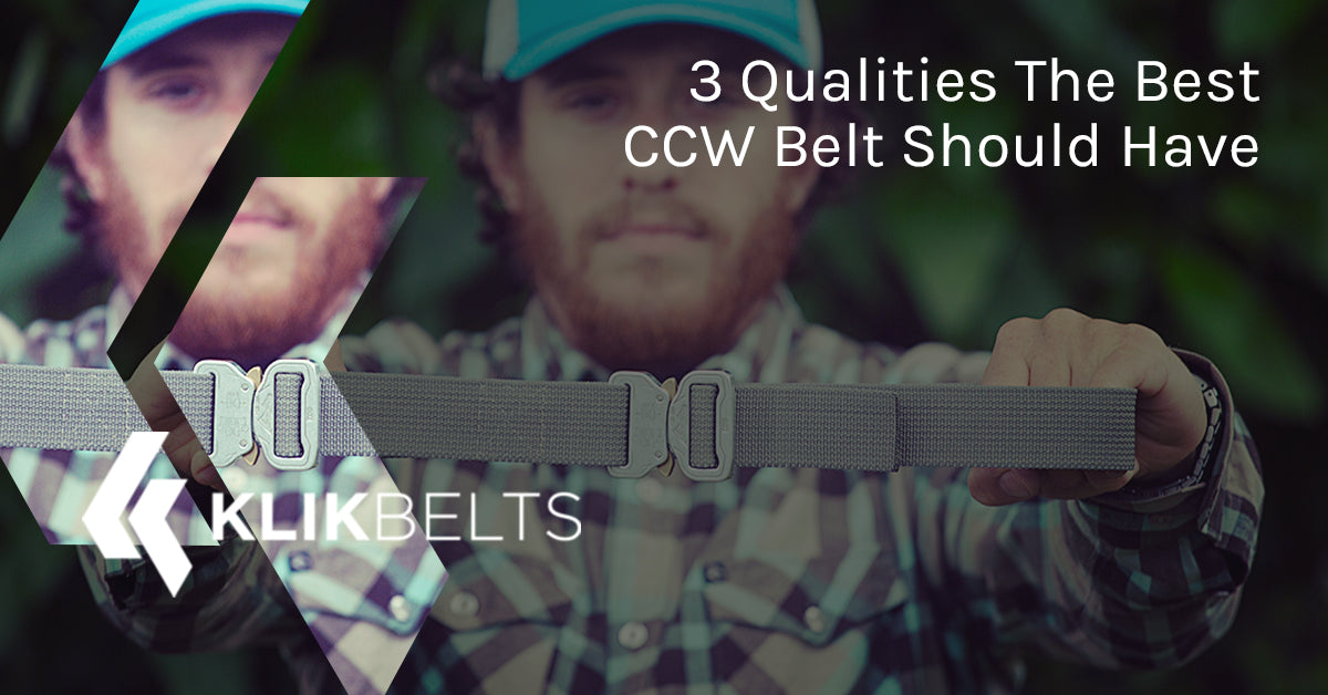 klikbelts 3 qualities the best ccw belt should have