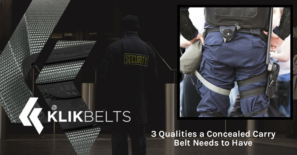 3 Qualities a Concealed Carry Belt Needs to Have