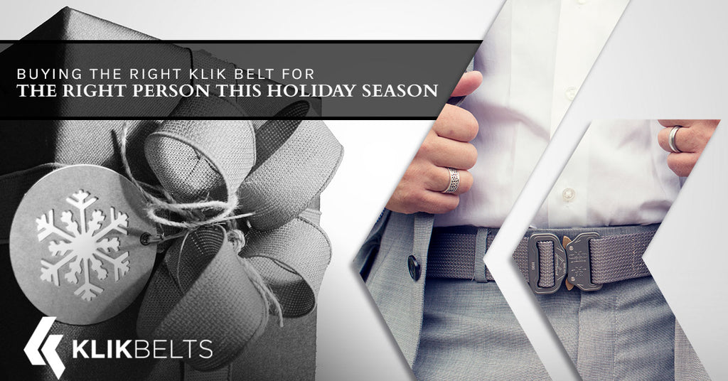Buying The Right Klik Belt For The Right Person This Holiday Season