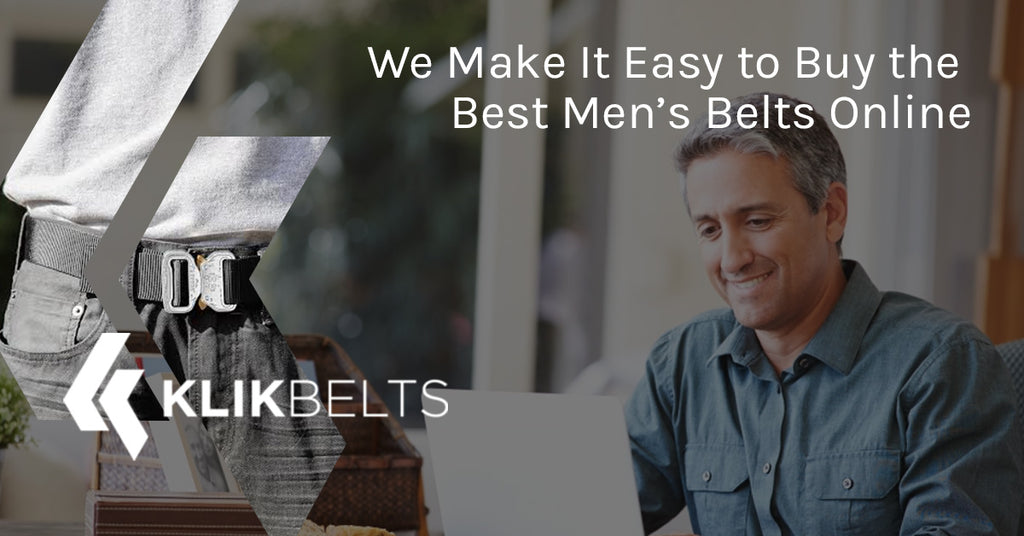 We Make It Easy to Buy the Best Men's Belts Online