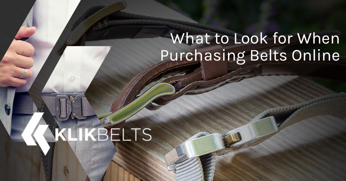 What to Look for When Purchasing Belts Online