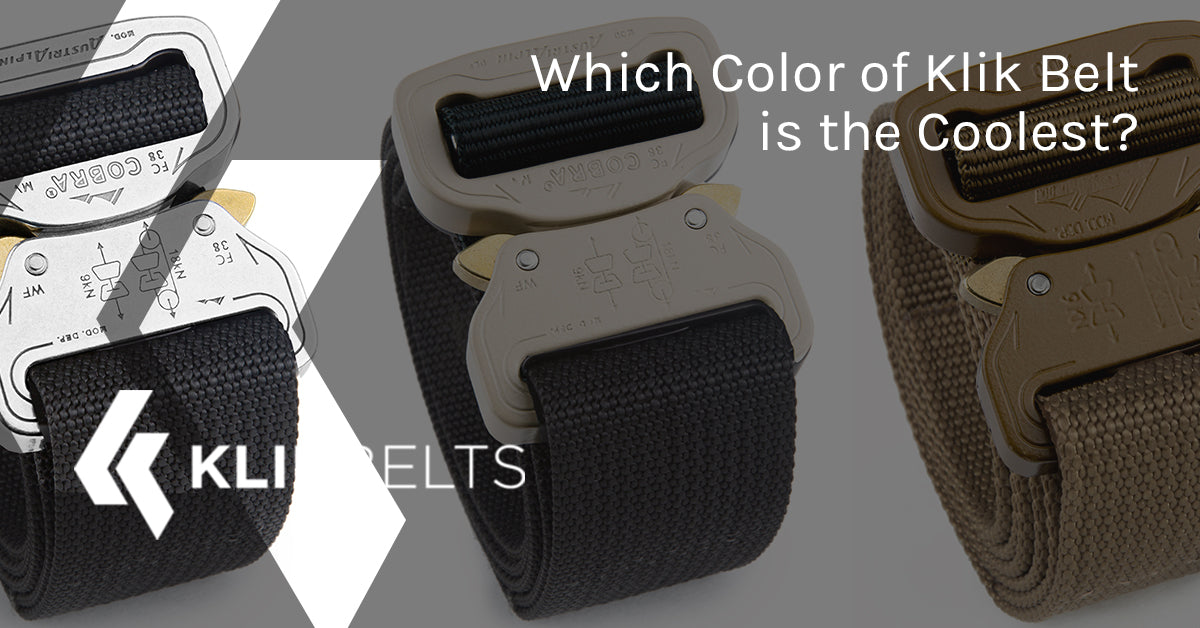 which color of klik belt is the coolest