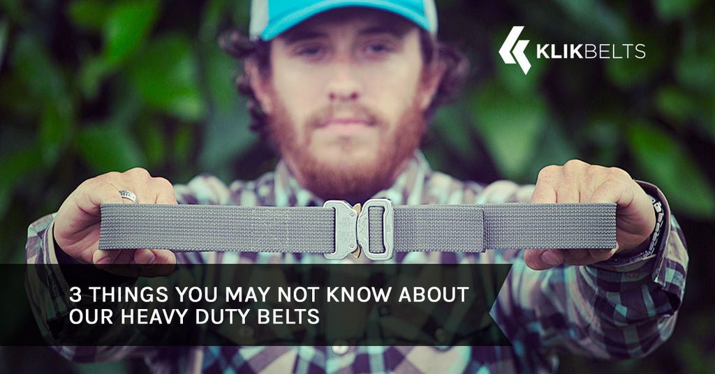 3 Things You May Not Know About Our Heavy Duty Belts