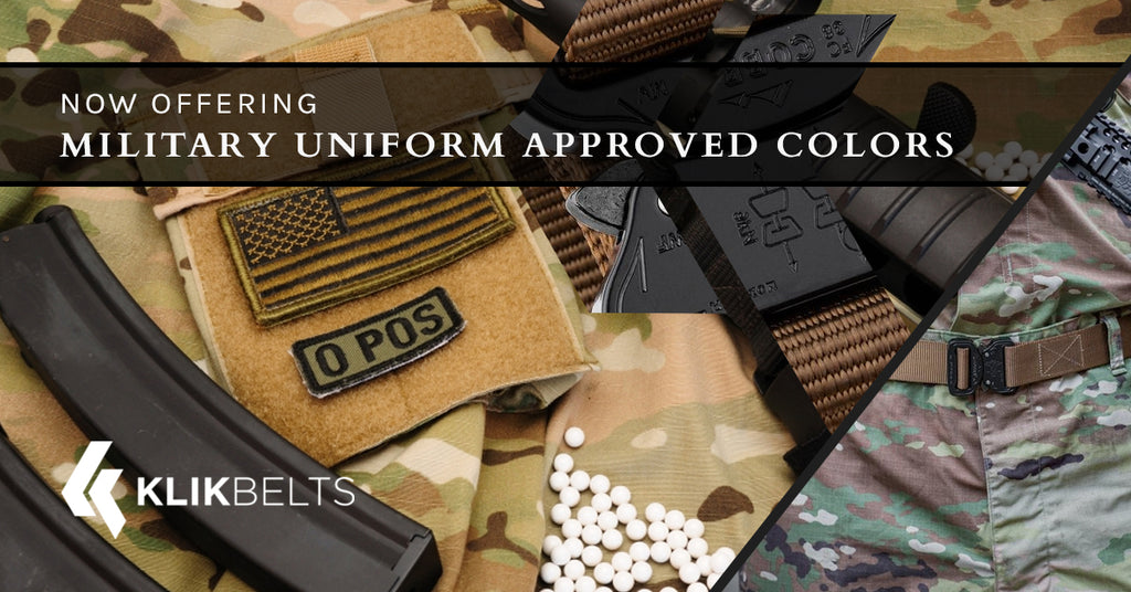 Now Offering Military Uniform Approved Colors